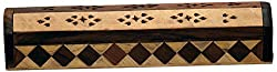 Woodenclave Wooden Incense Holder (Brown, 30 cm x 5.5 cm x 6.5 cm)