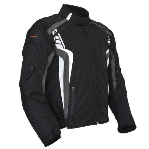 Roleff Racewear 5146 Blouson Moto Lucerne, Noir/Gris, XXL