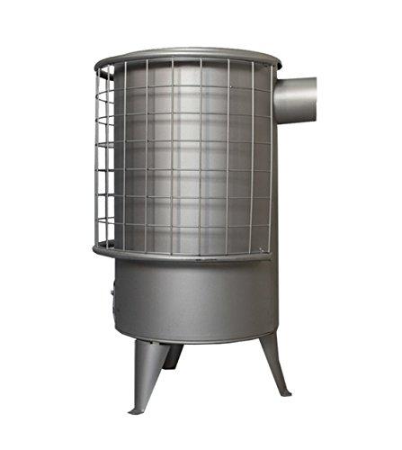 Sencilla estufa de leña o carbón redonda