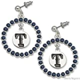 Fashion Texas Rangers Spirit Crystal Logo Wreath Earrings (MLB) Amazon.com