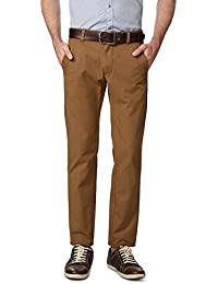 Peter England Khaki Trousers - B01CGMGU2G