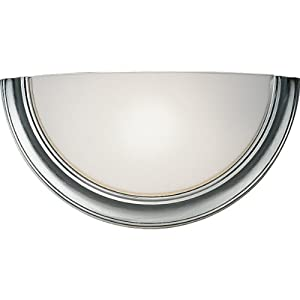 Wall Sconces 277 Volt : Progress Lighting P7171-13EB Eclipse Single-Light Wall Sconce with White Opal Glass and 120/277 ...