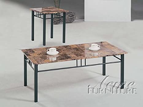 3-pc Pack Crossville Coffee Table Set W/Faux Marble Top Acs60783