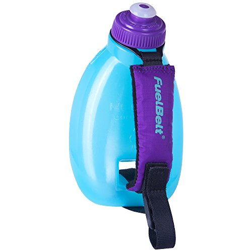 FuelBelt Helium Sprint Ergonomic Bottle, Arctic Blue/Grape, 10-Ounce (Running Water Bottle compare prices)