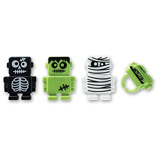 DecoPac Monsterbot Robot Cupcake Rings (12 Count) - 1