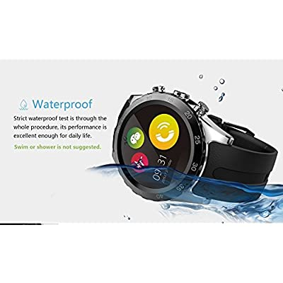 Bluetooth Smartwatch GFT KW08 Round Design SmartWatch Bluetooth MTK6260 Compatible With Android IOS Clock 1.22...
