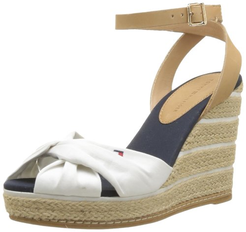 Tommy Hilfiger Women's Emery 53C Fashion Sandals White Blanc (100 White) 4