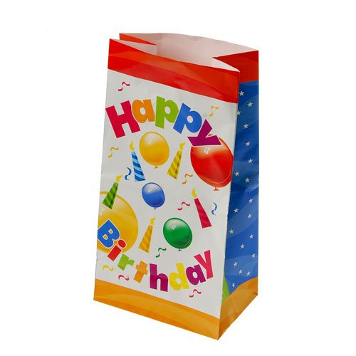"Dozen 10"" Happy Birthday Paper Favor Bags"