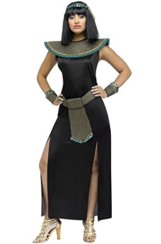 [Mememall Fashion Ancient Egyptian Midnight Cleopatra Adult Costume] (Deluxe Plush Cow Mascot Costumes)
