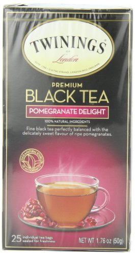 Twinings Tea, Pomegranate Delight, 25 Count (Pack of 6)