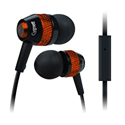 Cygnett-Atomic II Stereo Earphone With Mic-Chrome Orange