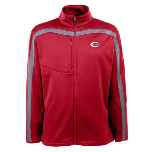 MLB Men's Cincinnati Reds Viper Jacket (Dark Red/Gunmetal, XX-Large) at Amazon.com