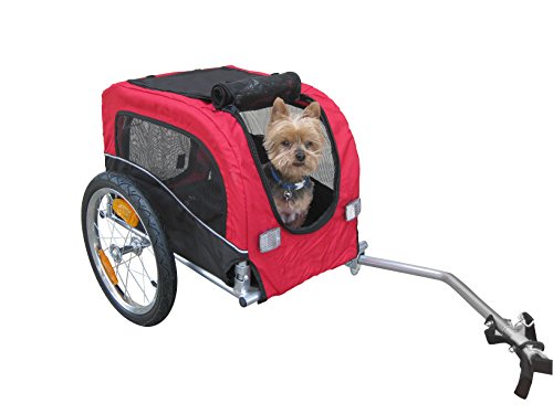 Booyah Small Dog Pet Bike Bicycle Trailer Pet Trailer RED