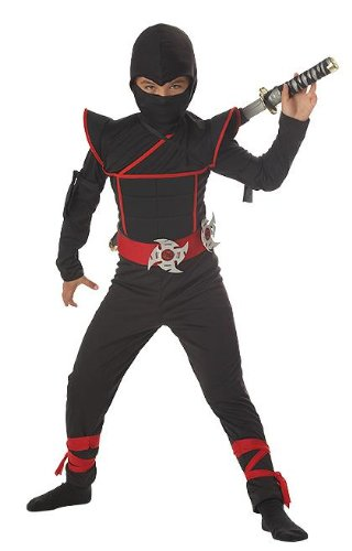 Child Stealth Ninja Costume Size: 8-10