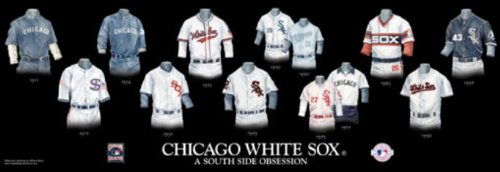 Framed Evolution History Chicago White Sox Uniforms Print Amazon.com