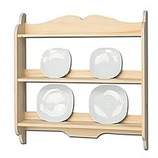 Piattaia credenza country da cucina in legno massello di abete 80x16x84 cm
