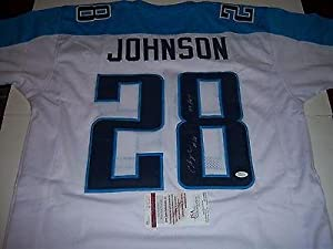 Chris Johnson Tennessee Titans 2009 Roy White Jsa coa Signed Jersey - Autographed NFL... by Sports Memorabilia