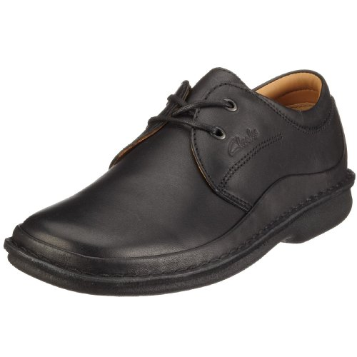 Clarks Sentry Cry Black Leather 203236078075 Men's Lace-Up Shoes - Black, 7.5 UK