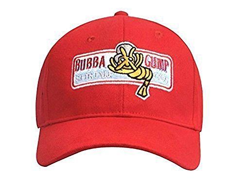 Bubba Gump Hat Shrimp Co. Embroidered Forrest Gump Baseball Cap Red Adjustable