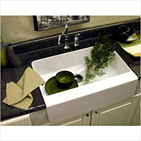 Advantage Primrose Apron Front Single Bowl Undermount Kitchen Sink Finish: White