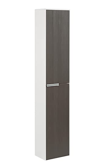 Fackelmann Cupboard Scera Front Colour Pine Texture Grey/Door Hinged on the Right/31.5 cm Wide