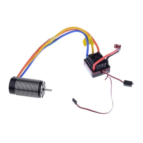 Neewer® 4076/3Y 1550Kv Sensorless Brushless Motor And 150A Sensored Speed Controller Esc For 1/8 Rc On-Road / Off-Road Car