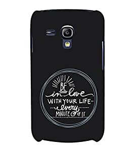 EPICCASE Life Quotes Mobile Back Case Cover For Samsung Galaxy S3 Mini (Designer Case)