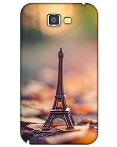 Hugo Samsung Galaxy Note 2 Back Cover Hard Case Printed Designer Multicolour