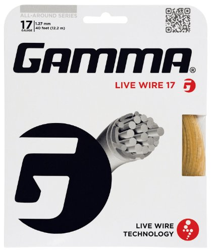 Gamma Live Wire Professional 17G Tennis String, Natural