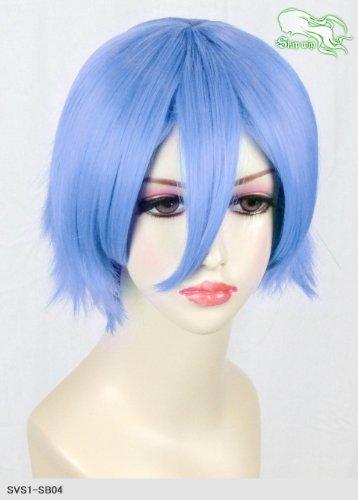 スキップウィッグ 魅せる シャープ 小顔に特化したコスプレアレンジウィッグ マニッシュショート アクアブルー