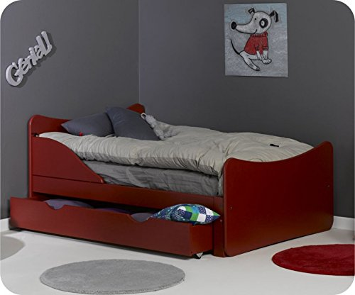 Mitwachsendes Kinderbett Ivoo Rot