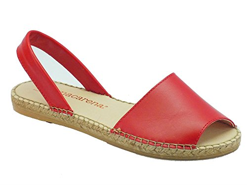 Sandali Macarena per donna in pelle rossa (Taglia 40)