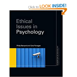 ethical issues in psychology Ib psychology notes on the biological level of analysis: general learning outcomes - discuss ethical considerations related to research studies at the biological.
