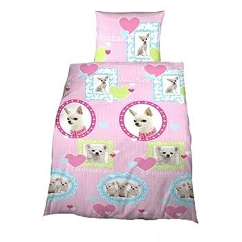 pas cher parure linge de lit housse de couette avec rabat taie d oreiller enfant chien. Black Bedroom Furniture Sets. Home Design Ideas