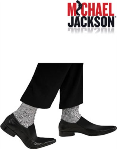 Licensed Michael Jackson MJ Adult Glitter Costume Stirup Sock Covers