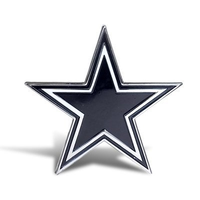 NFL Dallas Cowboys Chrome Metal Car Emblem