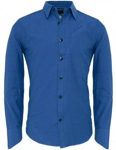 Denham Men's Shirt Mallite Shirt BLUE