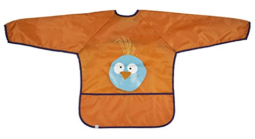 Lassig Art Smock Wildlife Bib Cloth, Birdie/Orange - 1