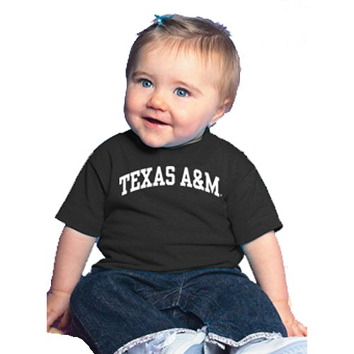BSP-10400-Texas A&M Aggies NCAA Arched Black Infant T-Shirt promise me texas