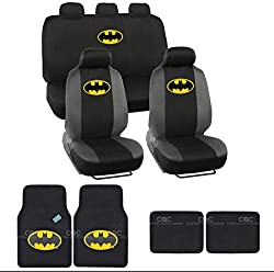 See Batman Seat Cover & Floor Mat for Car - Warner Brothers Auto Accessories, Original Series, Officially Licensed Products Details
