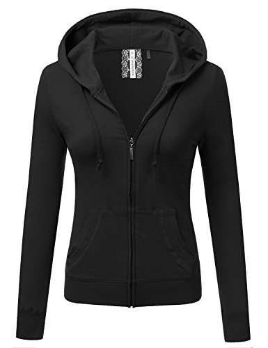 JJ-Perfection-Womens-Solid-Knit-Stretch-Long-Sleeve-Zip-Up-Hoodie-Jacket