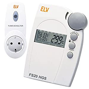 FS20 HGS Funk Hygrostat SparSet Luftfeuchtigkeit und  Kundenbewertung und Beschreibung
