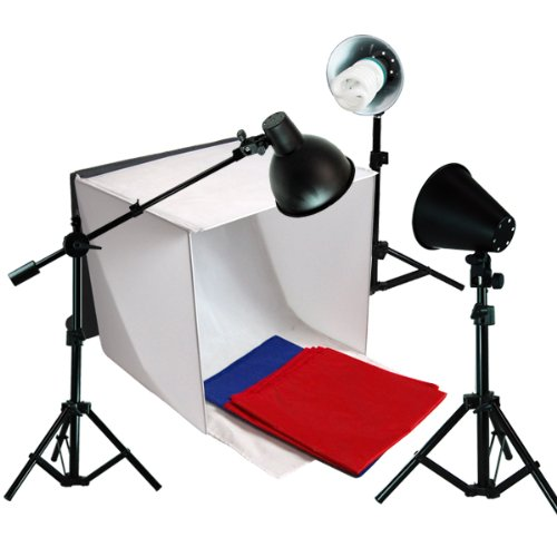 LimoStudio Studio Photography Softbox Tent Light Kit Table Top Photo Lighting Light Tent Kit in a Box with Overhead Hair Boom Light Stand Kit, AGG351