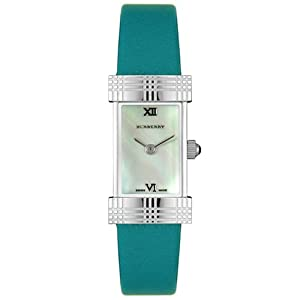 Burberry Women's BU4560 Heritage Collection Turquoise Mother-Of-Pearl Dial Watch