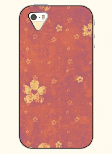 Oofit Phone Case Design With Retro Flower Flies For Apple Iphone 5 5S 5G