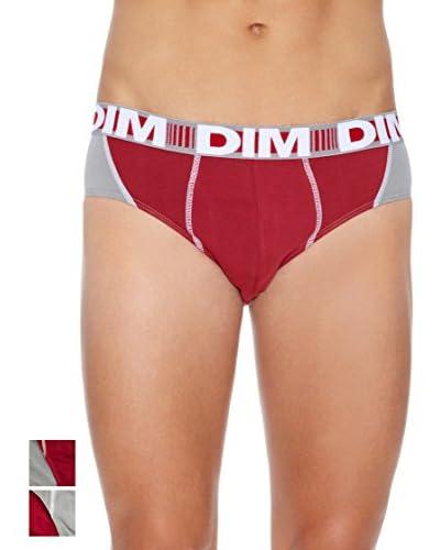 Dim Pack x 2 Slip 3D Flex Rojo