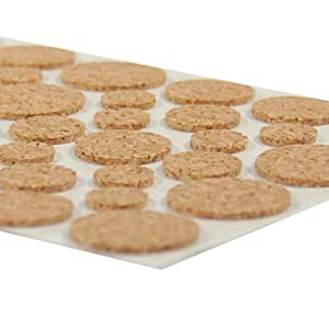 Light Duty Cork Protector Pads - 46 Pcs