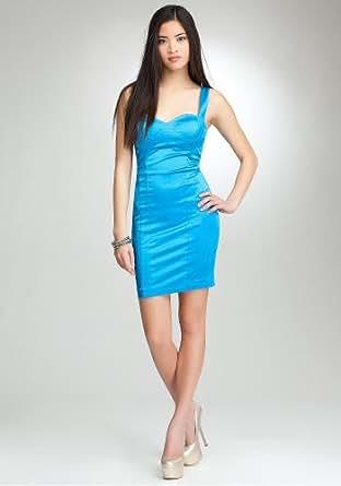 bebe Sweetheart Straps Satin Dress Spcl Events/eve Dresses Methyl Blue