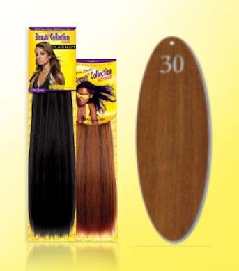 Beauti-Collection-Human-Hair-Weave-Yaki-Weave-10-30-Dark-Blonde-Size-10
