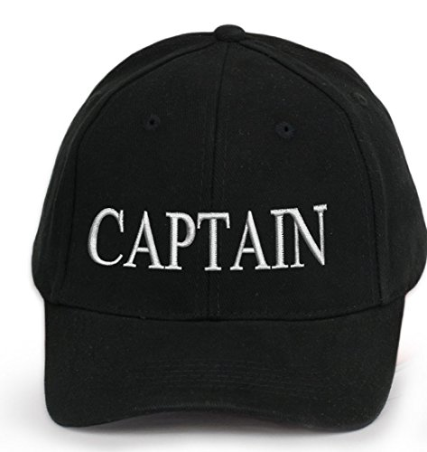 100-COTTON-Ancient-Mariner-Captain-Cabin-Boy-Crew-First-Mate-Yachting-baseball-cap-inscription-lettering-Black-White